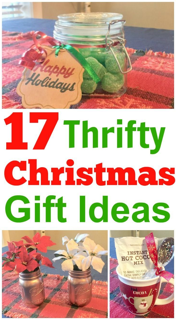 Thrifty Christmas Gifts On A Budget Cheap Christmas Gifts Affordable Christmas Gifts Frugal Christmas
