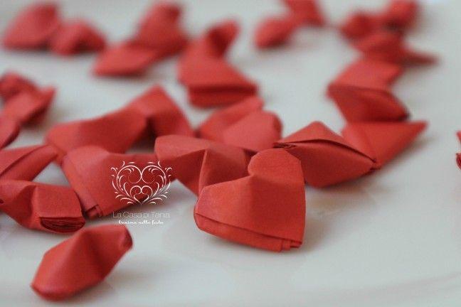 cuori origami-confezione da 50 pezzi