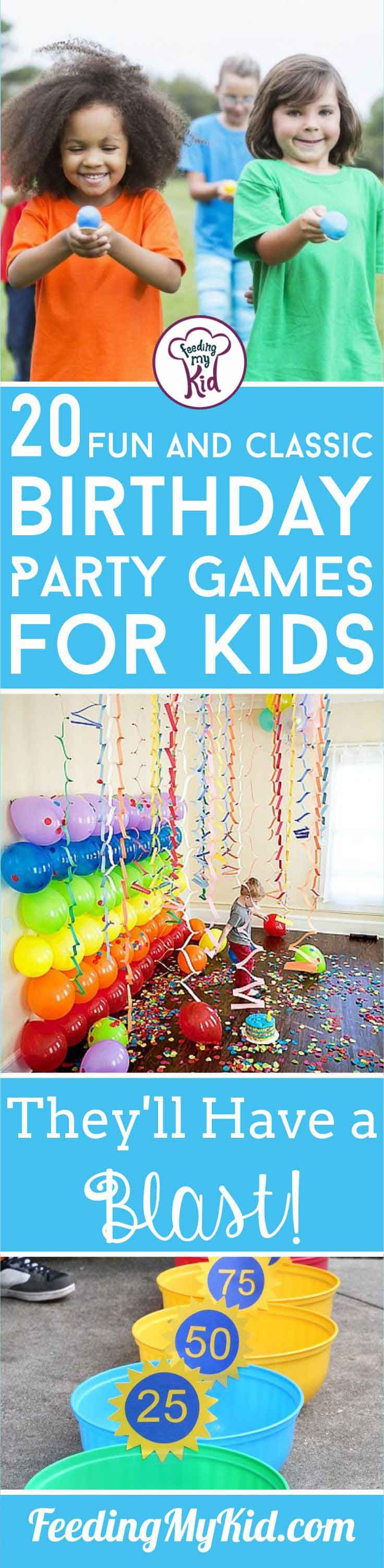 It can be stressful throwing a party for a bunch of kids. With these birthday party games, they won't be bored and you'll keep your sanity!