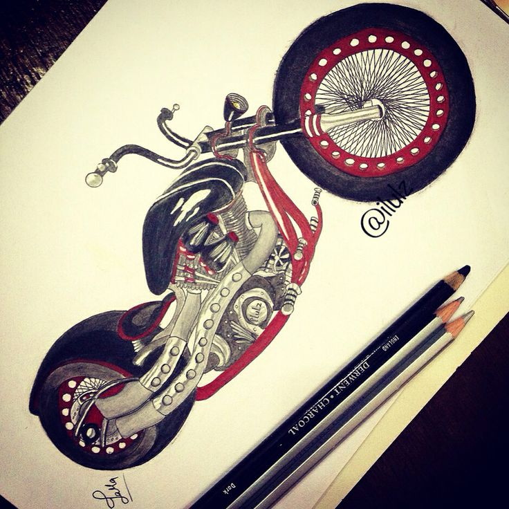 chopper bike sketch race speed