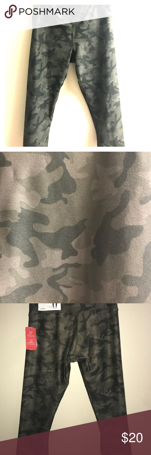 Green Camo yoga pants Green camo crop yoga pants with tags! Super cute and trendy, sadly I need a different size. Not Nike, sorry, BCG.Bundle and SAVE💜💜💜 Nike Pants Leggings