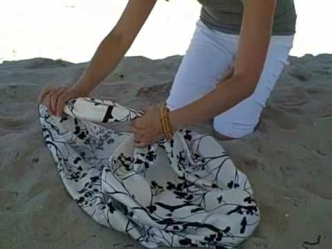 a super easy way to create a Hobo bag or beach bag! NO SEW!!!!!!!!! SOOOOO PRETTY!!