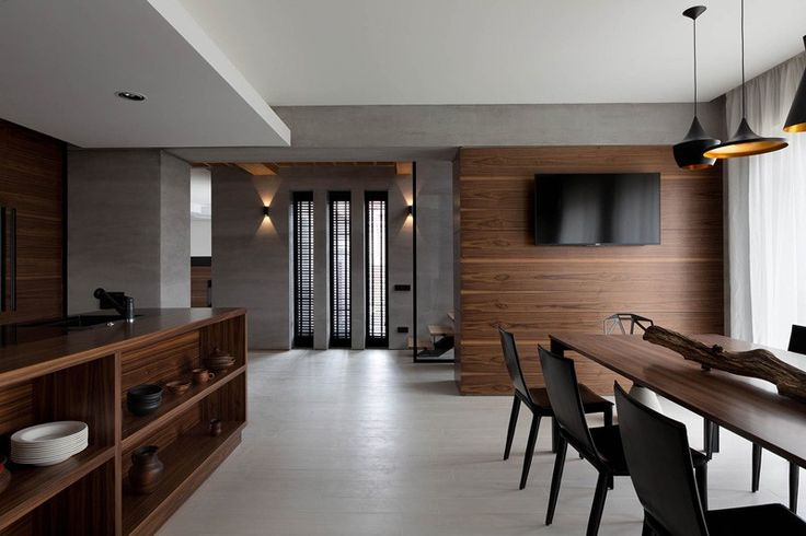 A Palette Of Gray And Walnut Completes The Redesign Of This Family Home
