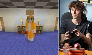 Joseph Garrett gives up job to upload Minecraft tips on Youtube channel | Daily Mail Online