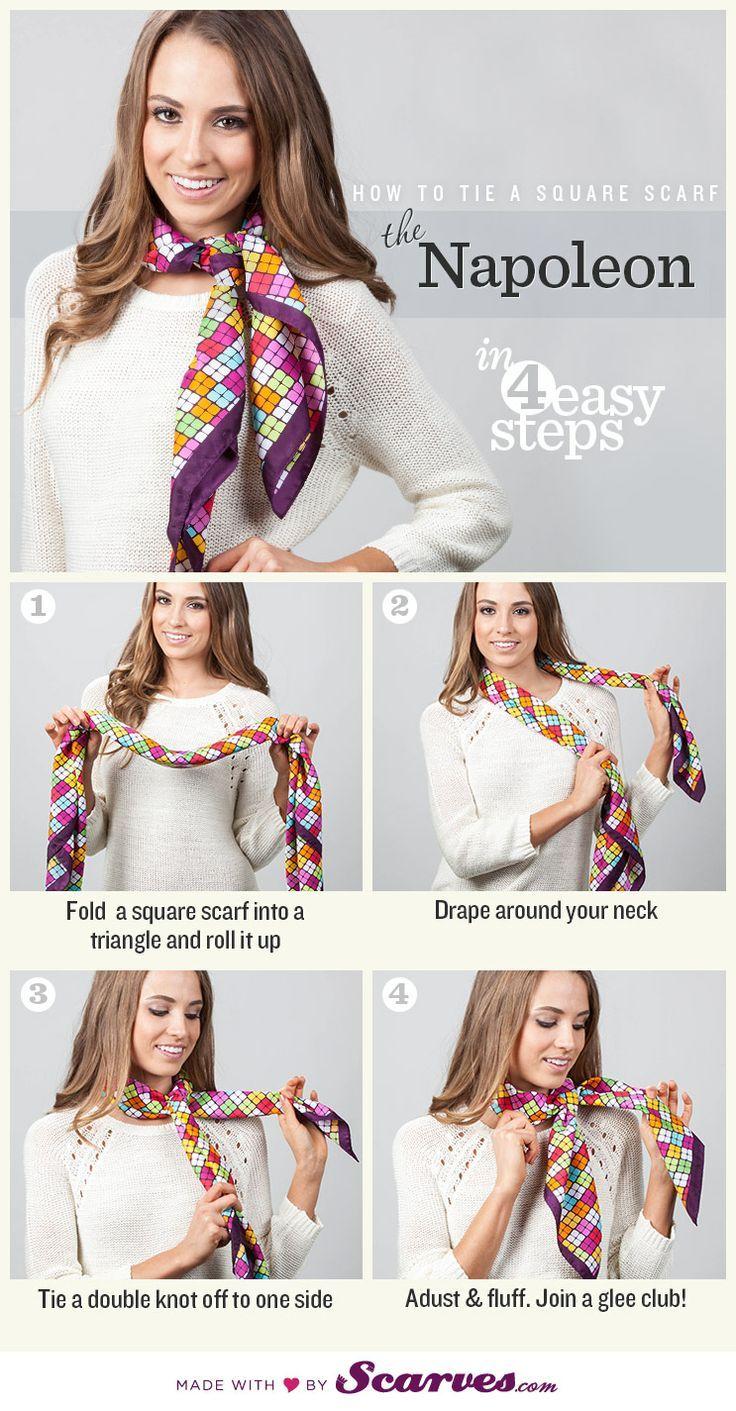 Trucs et astuces comment nouer un foulard en soie homme ou femme autour du cou, sur la tête ou en accessoire, manières de le mettre.