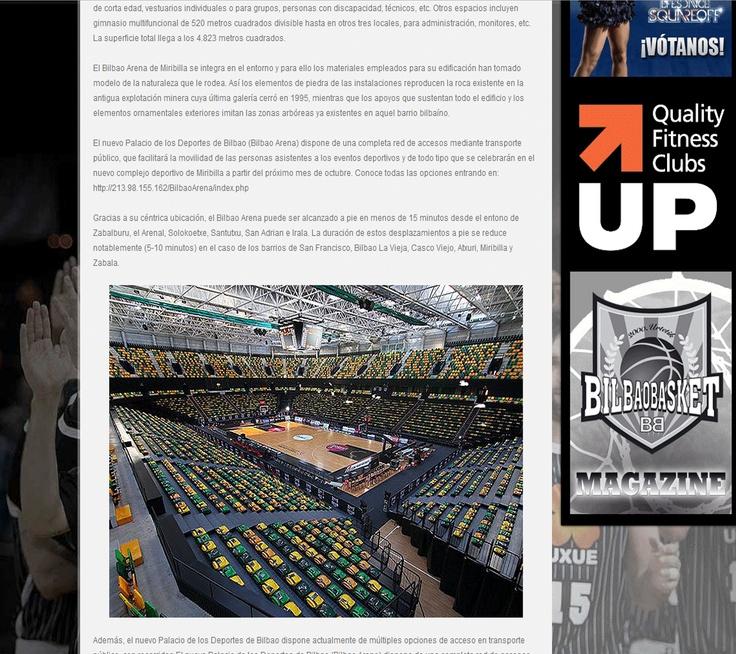 Imagen del Bilbao Arena extraída de su web.