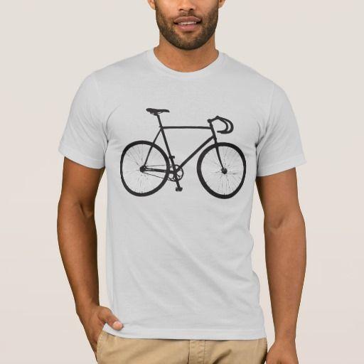 Racefiets t-shirt. Fixie. Zazzle.