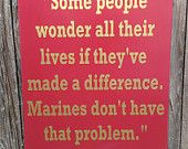 US Marine Corps USMC Ronald Reagan Quote Wood by LilMissScrappy