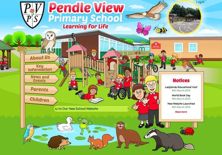 http://www.pendleview.lancs.sch.uk/ by https://primarysite.net/