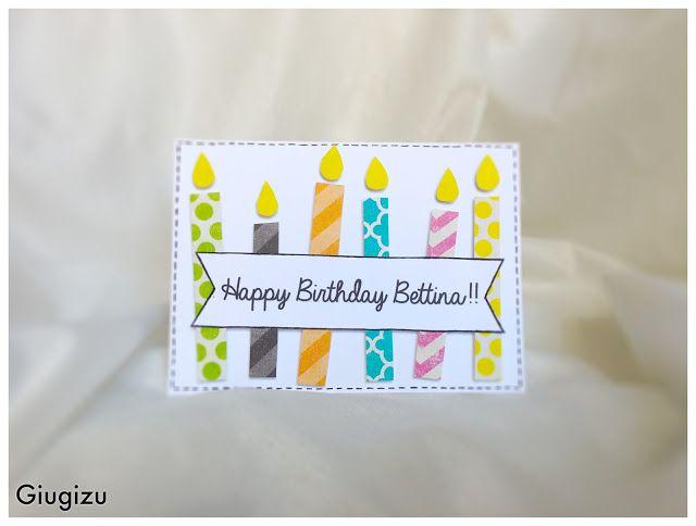 Giugizu's corner: Handmade Birthday Candles card - Biglietto con candele di compleanno fatto a mano