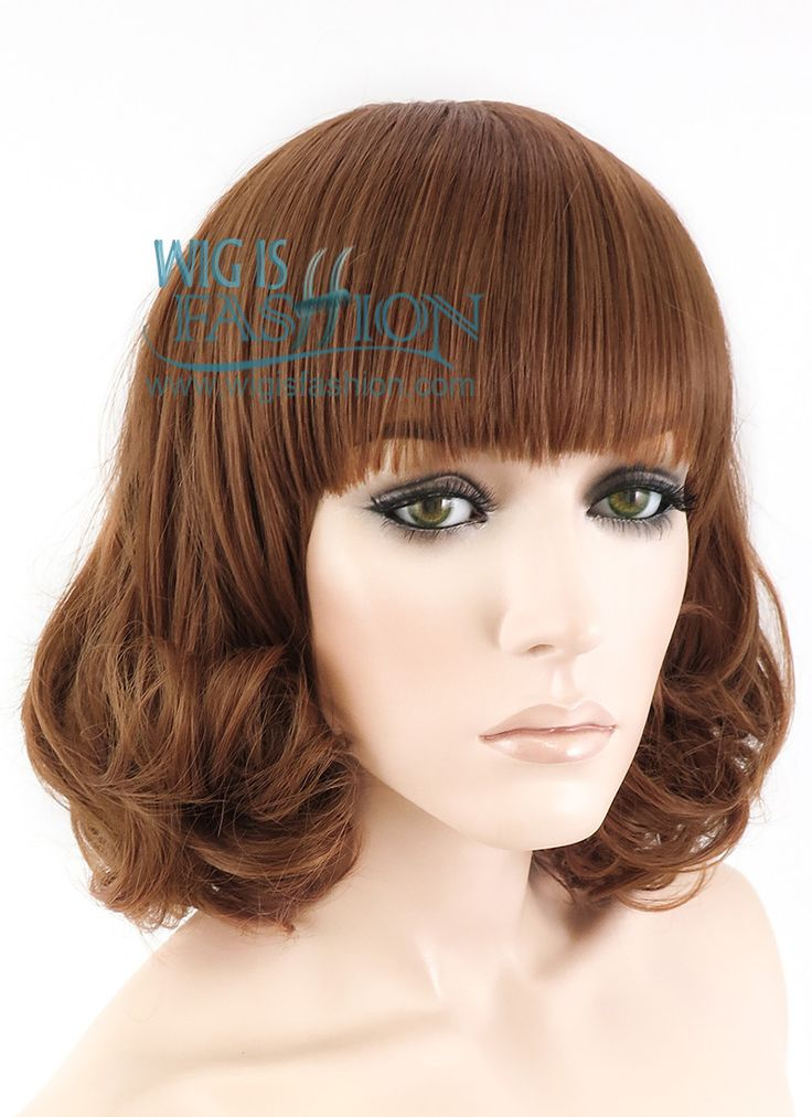 Harajuku Short Curly Mixed Brown Fashion Hair Wig With