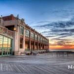 Asbury Park Convention Hall sunrise photograph on canvas 24 x 32