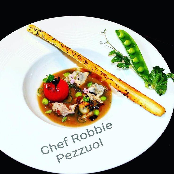 "Robbie Pezzuol @robbiepezzuol ""antipasto caldo"" #chefemaitre  #chef #Robbie #Pezzuol #rimini #starfood #masterfood #romagnafood #romagnamia  #giblorsivrea #love #gourmet #gourmetartistry #italianfood #artfood #photofood #foodphotography #foodgasm #seafood #passion #foodstyling #healtyfood by chefemaitre"