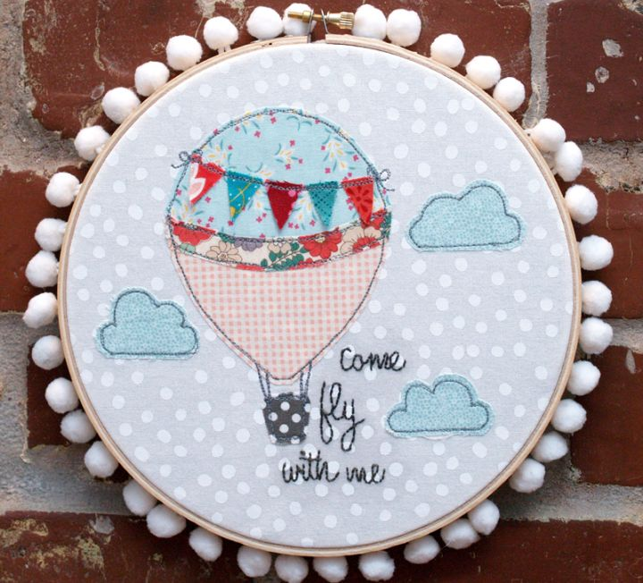 DIY Hot Air Balloon Hoop Art