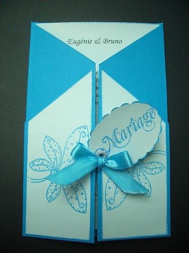 faire part mariage bleu turquoise
