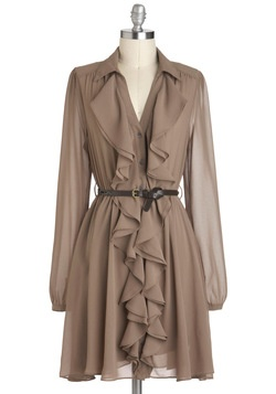 Mocha Truffle Dress, #ModCloth I'd dream to wear this for work~