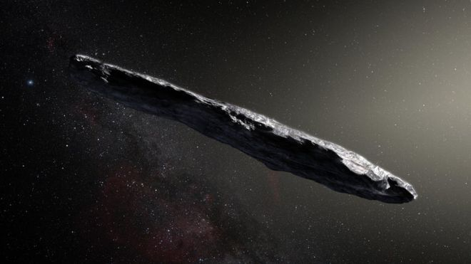 The first known interstellar asteroid may hold water from another star system in its interior, according to a study.
