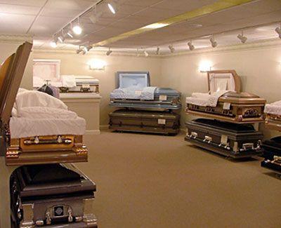 Inside Funeral Homes Funeral Home Casket Selection Room