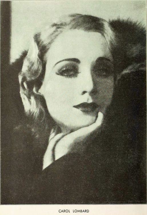 """Carole Lombard (1908-1942) from The New Movie, December 1929. Still using the name """"Carol"""" at this time."""
