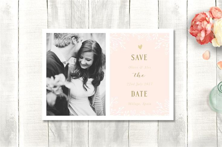 Light Floral Save the Date | Wedding Stationery from Appleberry Press