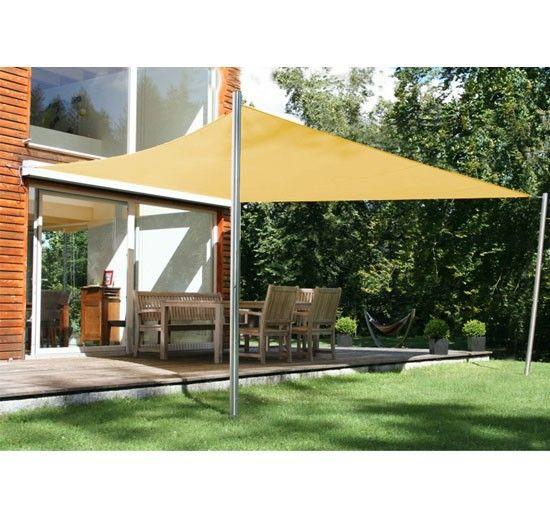 Voile d'ombrage rectangulaire 4x6m toile solaire taud de soleil sable neuf 59sa - Aosom.fr - Aosom.fr