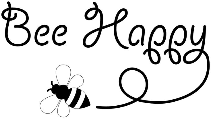 FREE bee-happy sentiment digi stamp // FREE printable