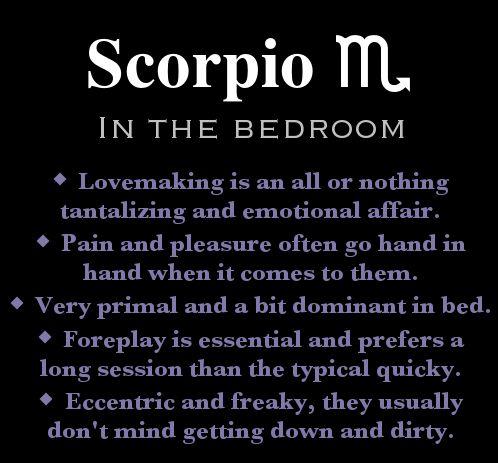 are scorpio women horny