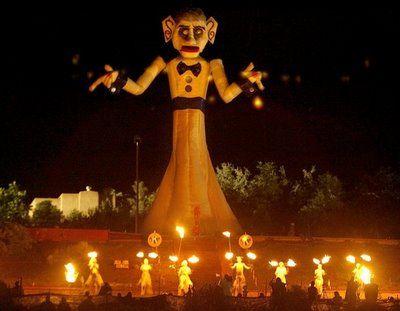 The burning of Zozobra in Santa Fe, NM