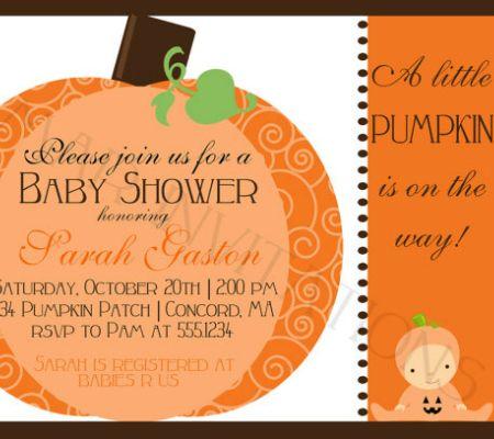 143 best Halloween Baby Shower Invitations images on Pinterest