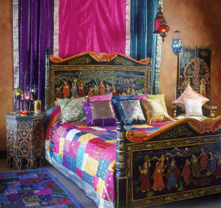Boho Master Bedroom Colorful