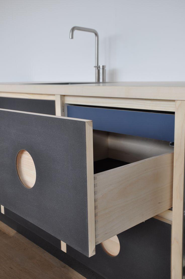 Kjeldtoft – køkken - skuffe - overflade – Desktop – Furniture Linoleum – Forbo