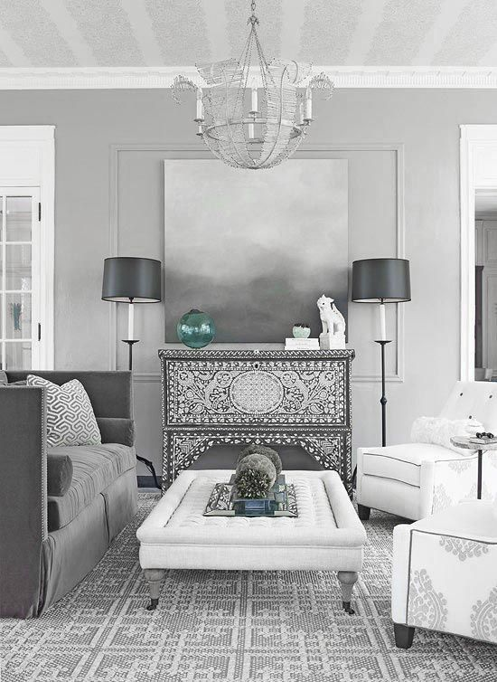 Dove Grey Living Rooms