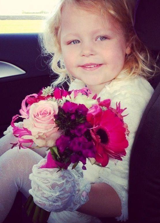 Wedding flowers child