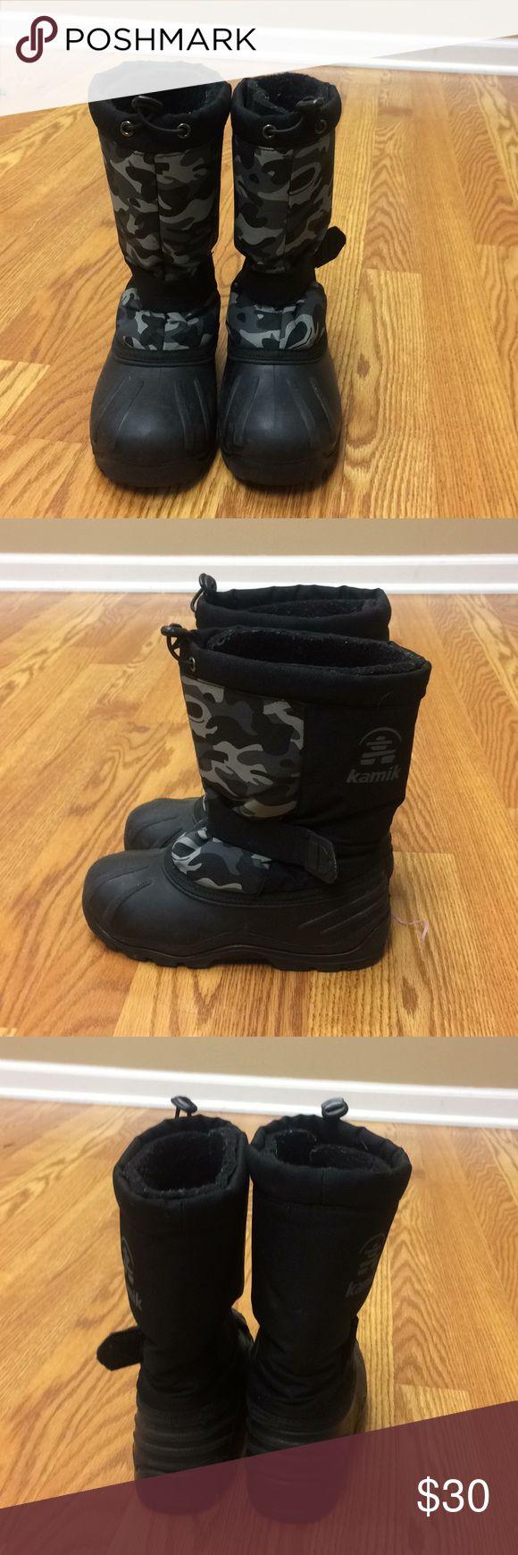 Boys winter boots Practically brand new Kamik winter boots! Kamik Shoes Rain & Snow Boots