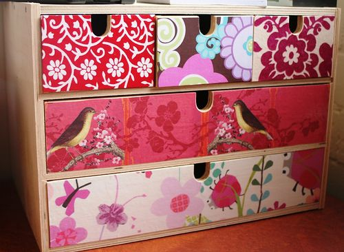 Decoupaged IKEA wooden box