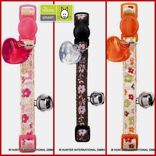 1 Katzenhalsband von HUNTER Smart - RETRO FLOWER - rosa, braun oder orange - NEU | eBay