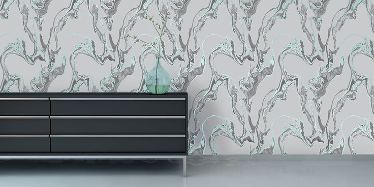 TEMPORARY -movable & removable wallpaper! Marble Stream