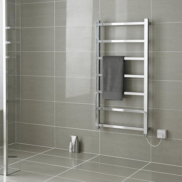 Sustituir acumulador por toallero en wc  arriba/Radiador Toallero Eléctrico Plano - Cromado - 1200mm x 600mm x 105mm - Eton