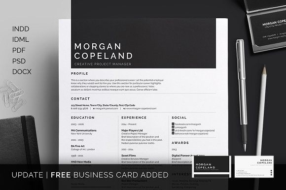 Resume/CV - Morgan by bilmaw creative on @creativemarket