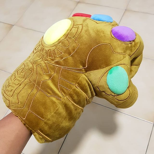 This Hot Toys Cosbaby Infinity Gauntlet Plush is a hot