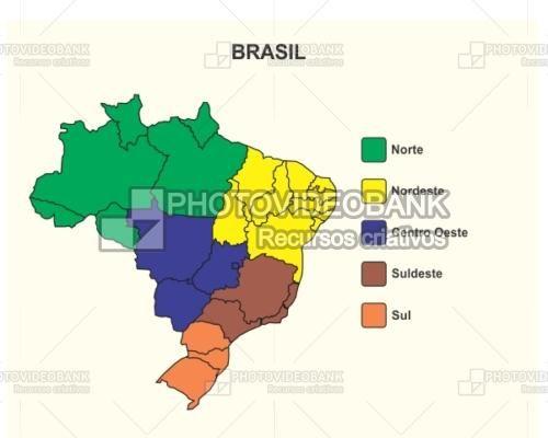 Best Maps Images On Pinterest - Brazil map illustration