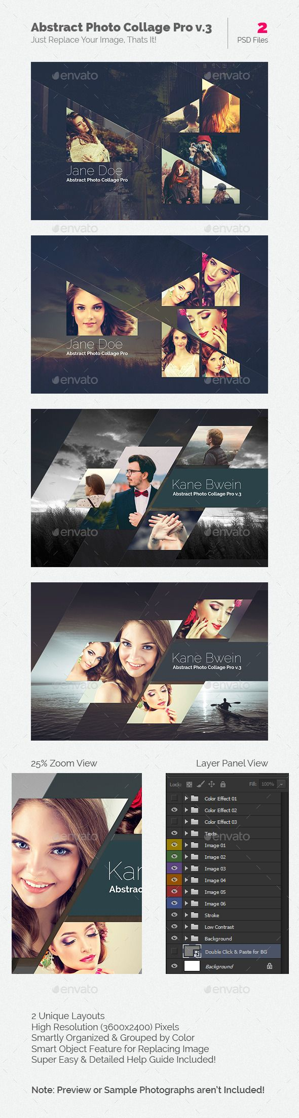Abstract Photo Collage Pro Template #photography #psd Download: http://graphicriver.net/item/abstract-photo-collage-pro-v3/12945532?ref=ksioks