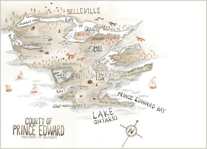 Maps, Sarah Burwash, County of Prince Edward, Ontario