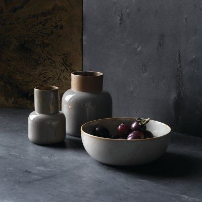 Cecilie Manz Earthenware. Vase - Jar Vase and Bowl. Now in our store. Fritz Hansen Objects