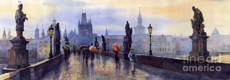 Prague Charles Bridge Print by Yuriy Shevchuk on Fine Art America