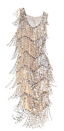 1927 flapper dress.