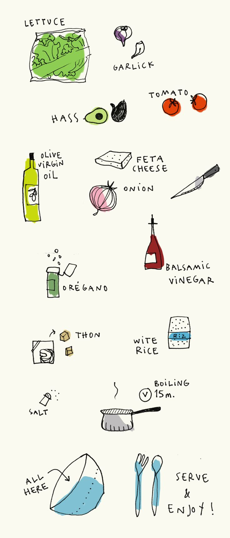 indie salad mercedes leon illustration recipe