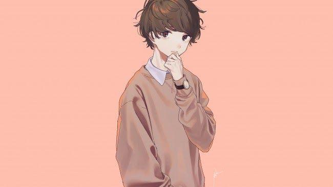 21 Anime Boy Wallpaper Wallpaper Anime Boy Pretty Cute Brown Hair Wallpapermaiden Download Cartoo Cartoon Wallpaper Hd Cute Anime Boy Cute Anime Wallpaper