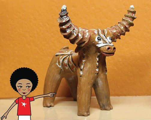 I'm in the Free State today visiting some more museums. I think by the end of this trip I'll be the most cultured kid in the country! Here I am at the National Museum in Bloemfontein with this totally cool wooden buck that I want in my room. #zibu #heritagemonth #southafrica Moja Heritage Collection http://tinyurl.com/n6vbntv
