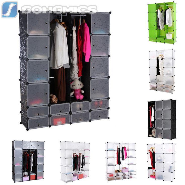 Inspirational Details zu Regal Schrank Garderobe Kleiderschrank Regalsystem Standregal Steckregalsystem